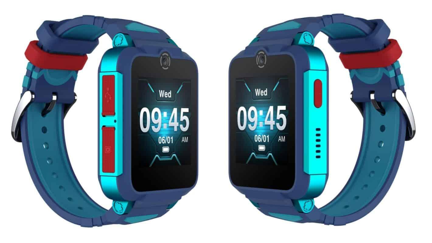 01 2 TCL MOVETIME Family Watch 2 MT 42 sin sensor de termómetro Azul Verde Cerrar Atrás Derecha
