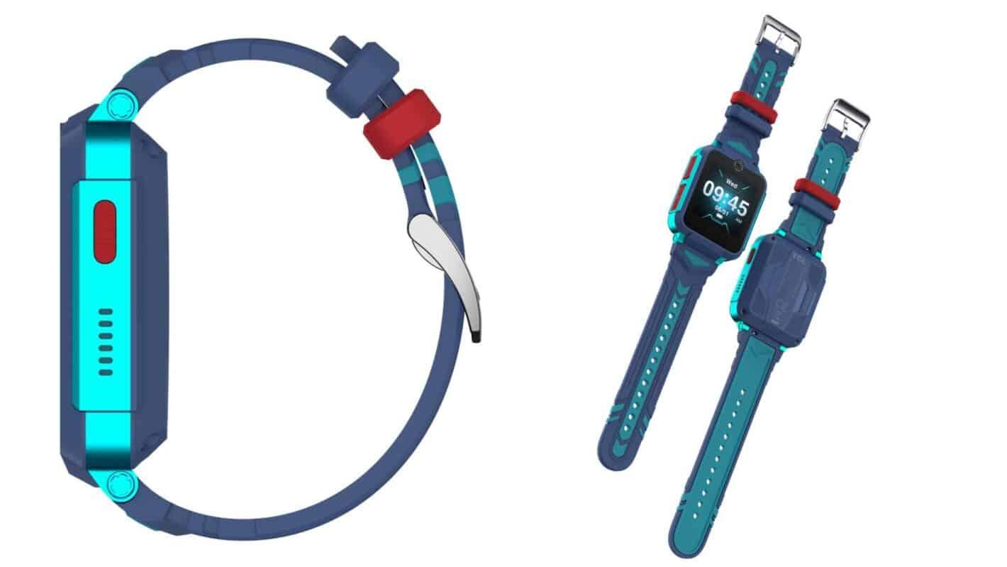 01 4 TCL MOVETIME Family Watch 2 MT 42 sin sensor de termómetro Azul Verde Cierre frontal derecho