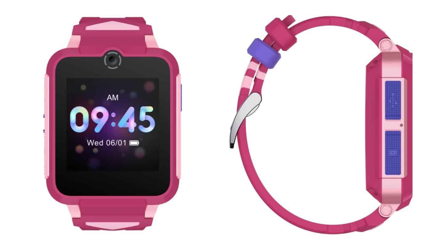 02 2 TCL MOVETIME Family Watch 2 MT 42 sin sensor de termómetro Rojo Rosa Cerrar Frente derecho