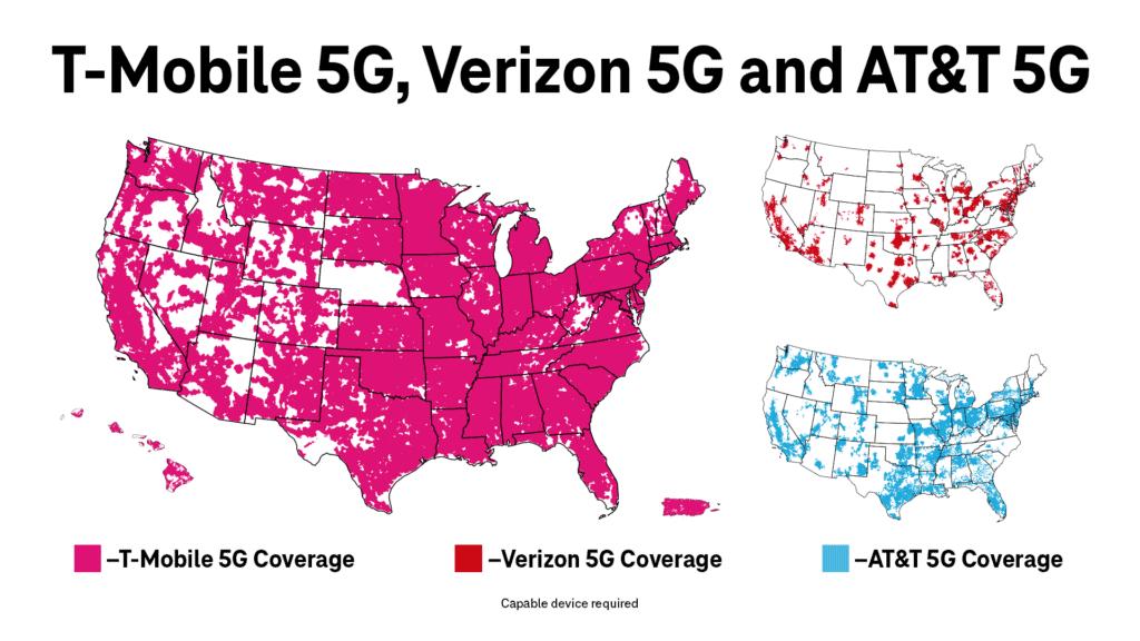 5G Map Comparison