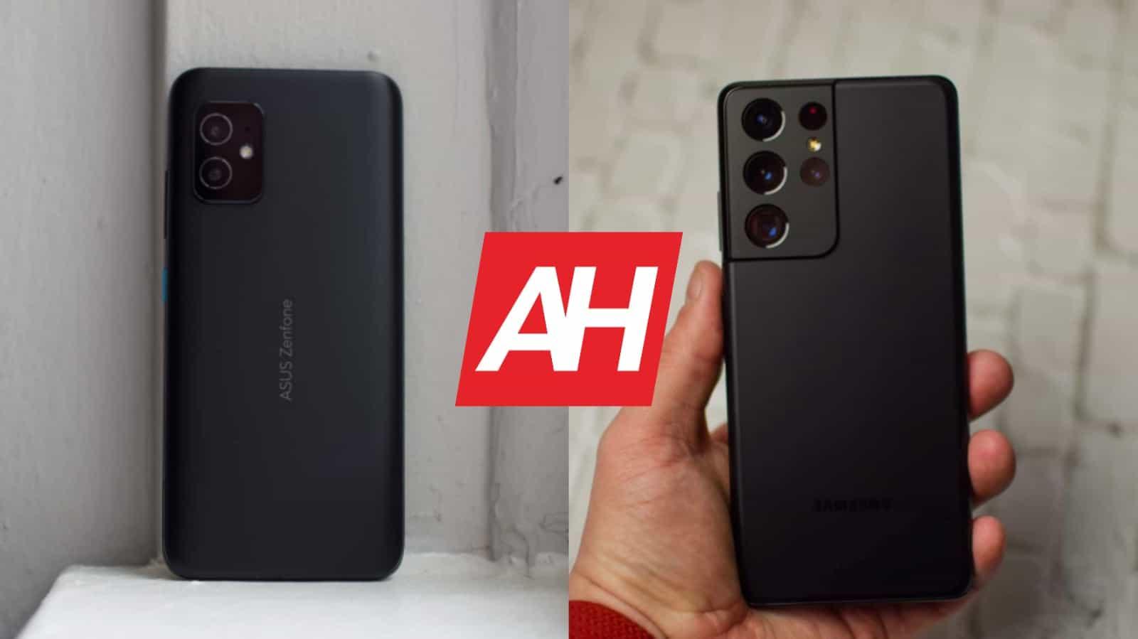 Phone Comparisons: ASUS ZenFone 8 vs Samsung Galaxy S21 Ultra