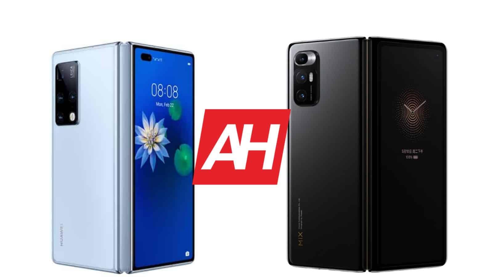 AH Huawei Mate X2 vs Xiaomi Mi MIX Fold comparison
