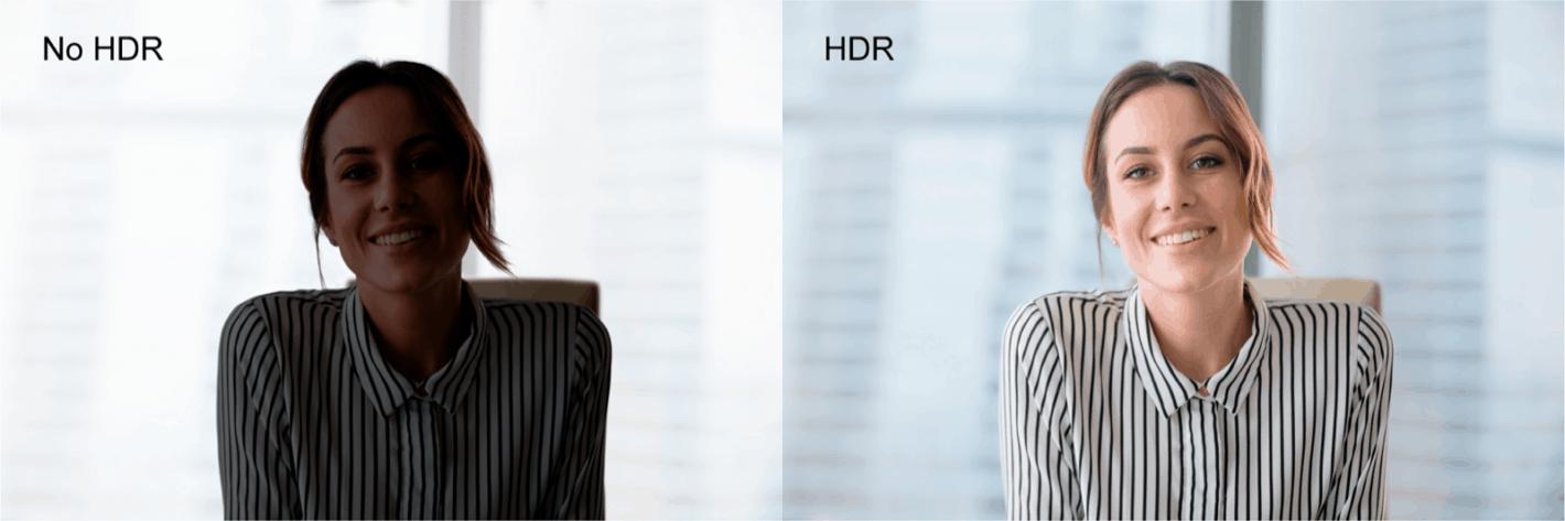 Dell UltraSharp Webcam HDR Comparison