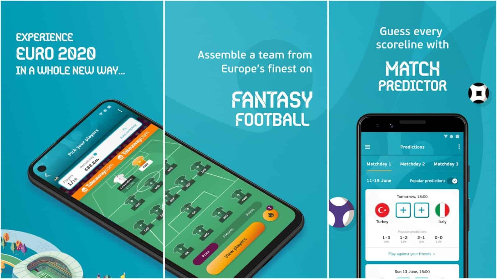 EURO 2020 Fantasy Predictor app grid image