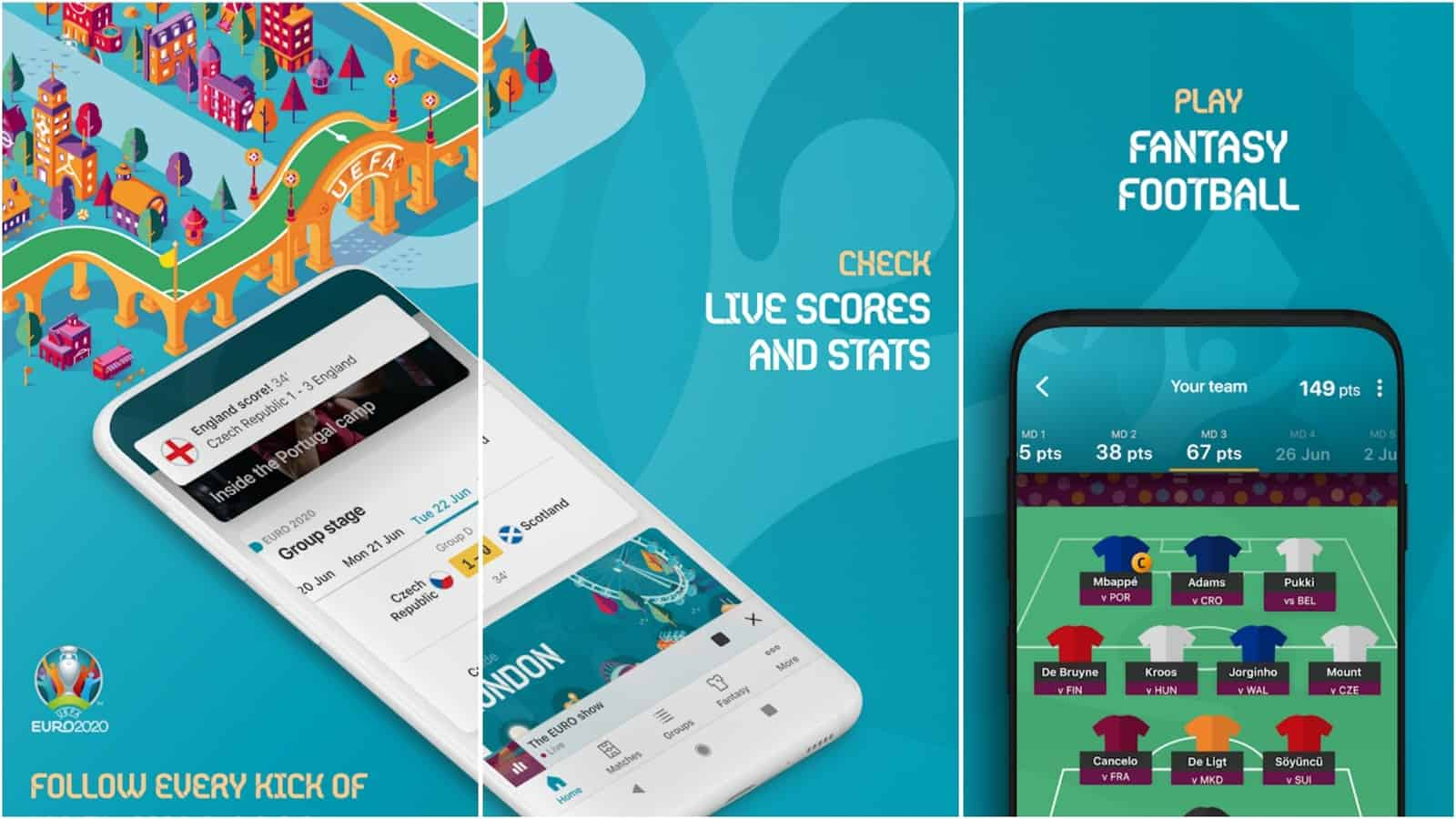 EURO 2020 Official app grid image