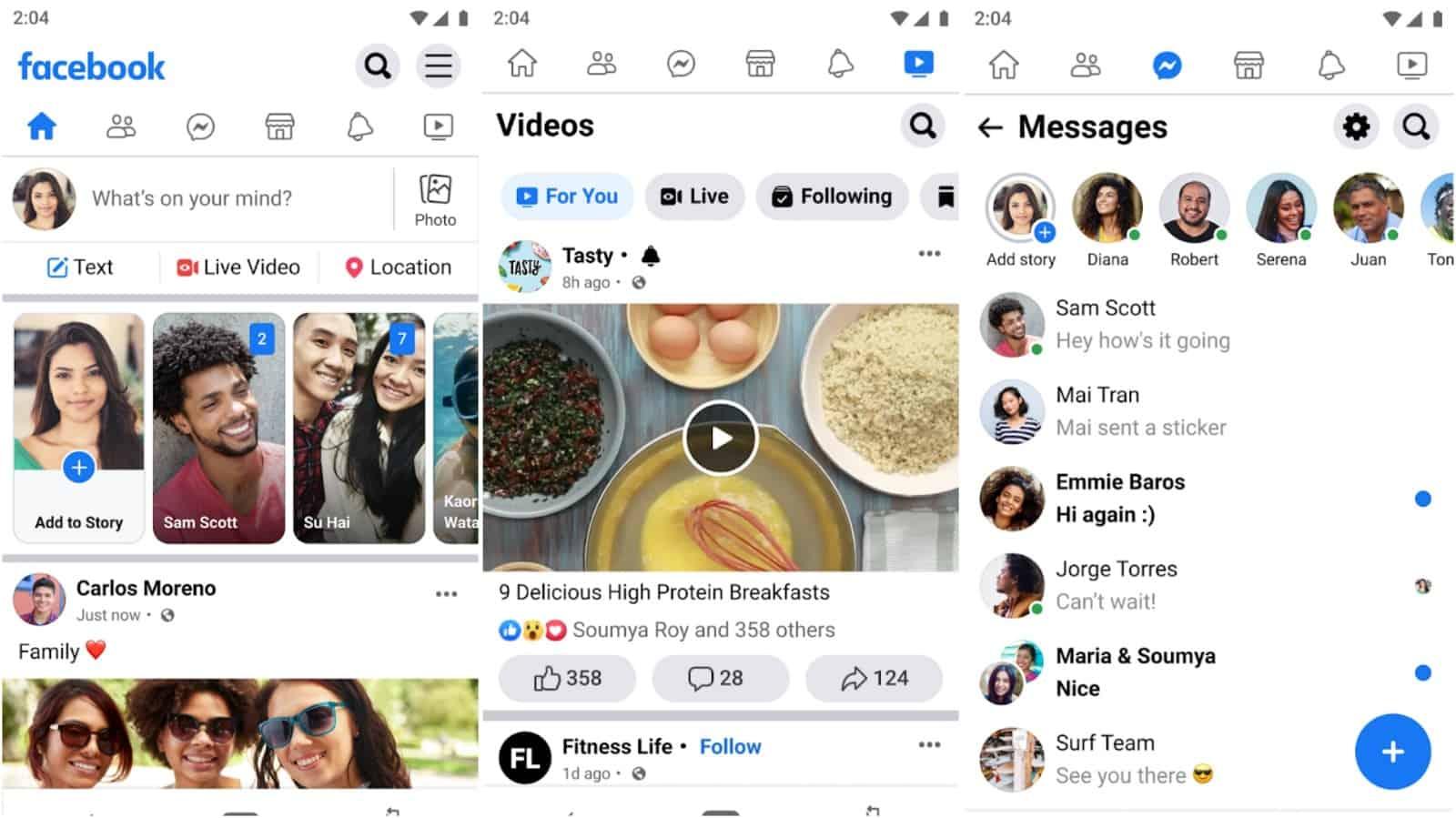 Facebook Lite app grid image