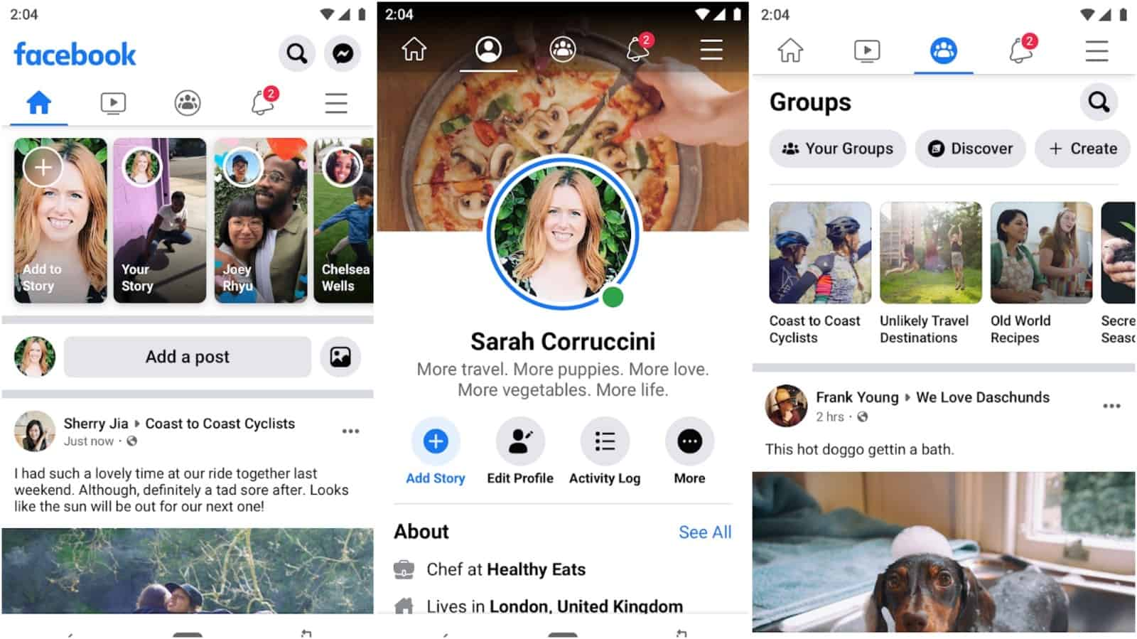Facebook app grid image