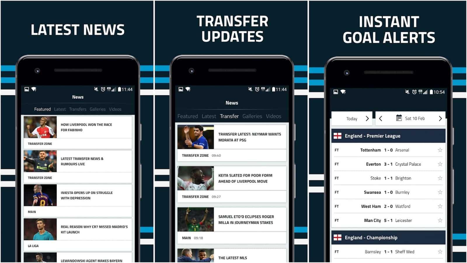 Goal com app grid image