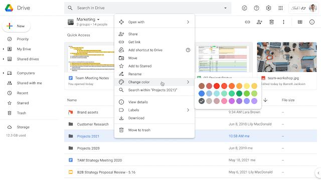 Google Shared Drive Folders Customize