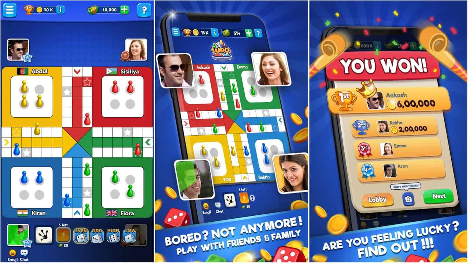 Ludo Club app grid image