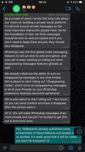 Mark Zuck WhatsApp Features 1