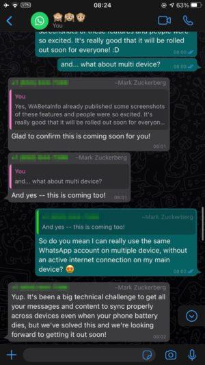 Mark Zuck WhatsApp Features 2