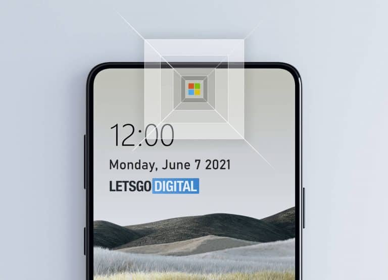 Microsoft Surface Under Display Camera Sensors 1