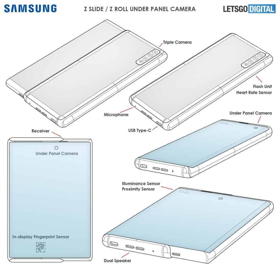 Samsung rollable smartphone patent June 2021 image 2