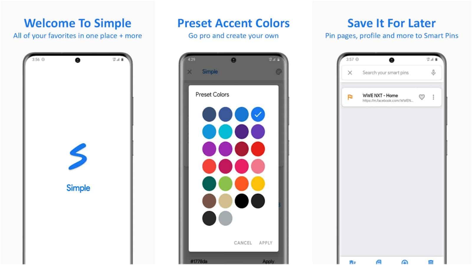 Simple Social app grid image