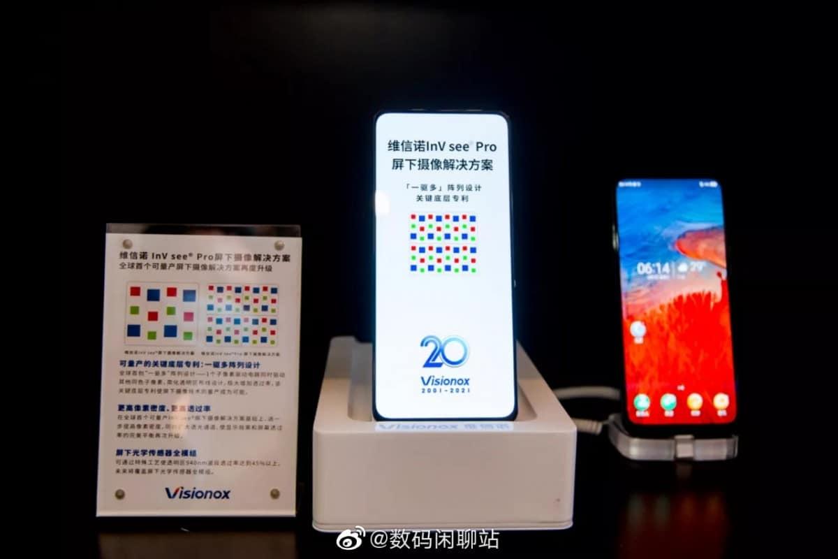 Visionox under display camera ZTE