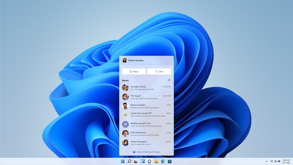Windows 11 Chat Microsoft Teams integration