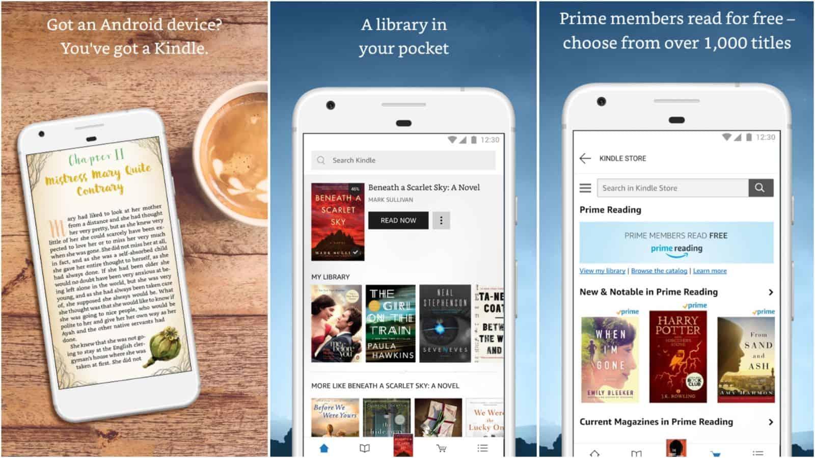 Amazon Kindle app grid image