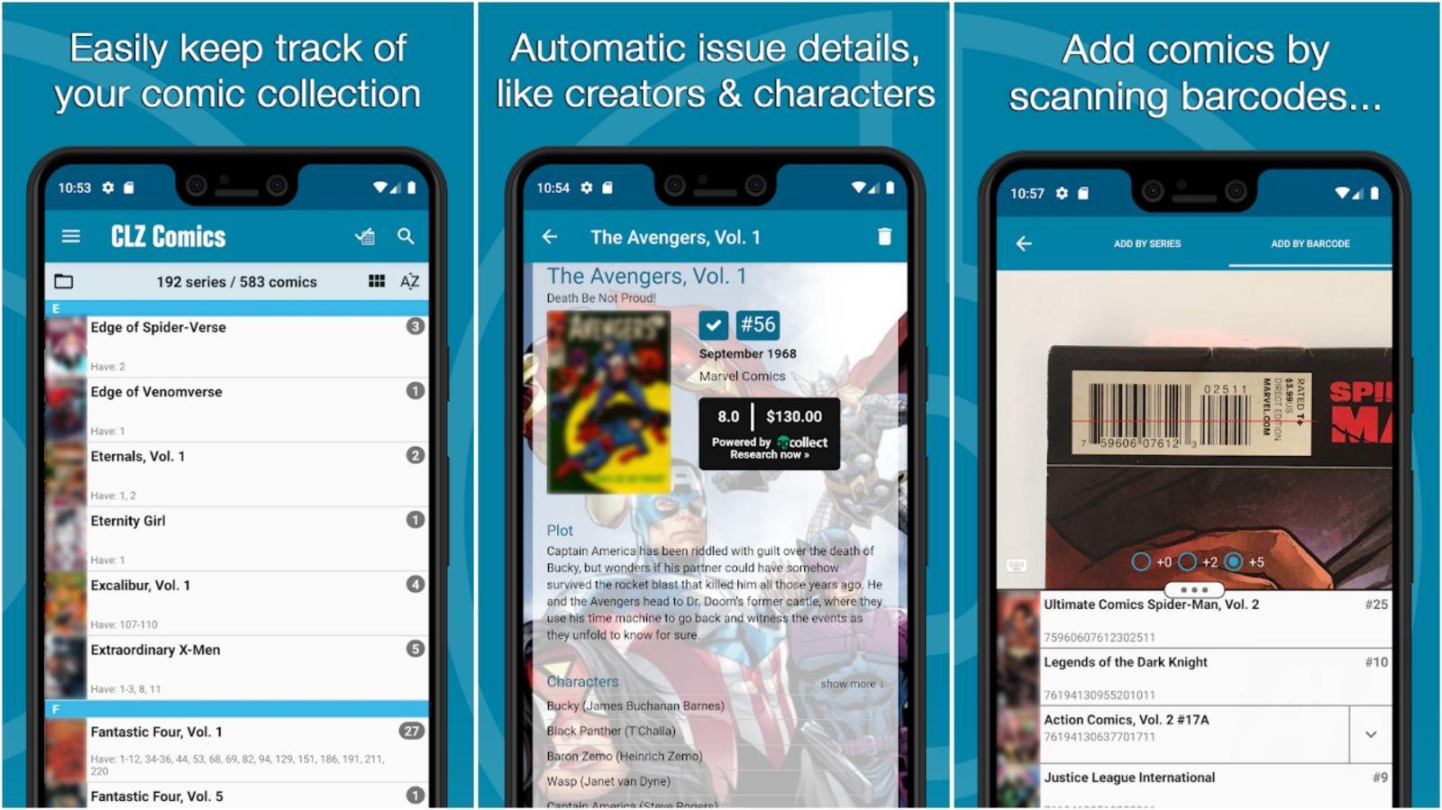 CLZ Comics app grid image