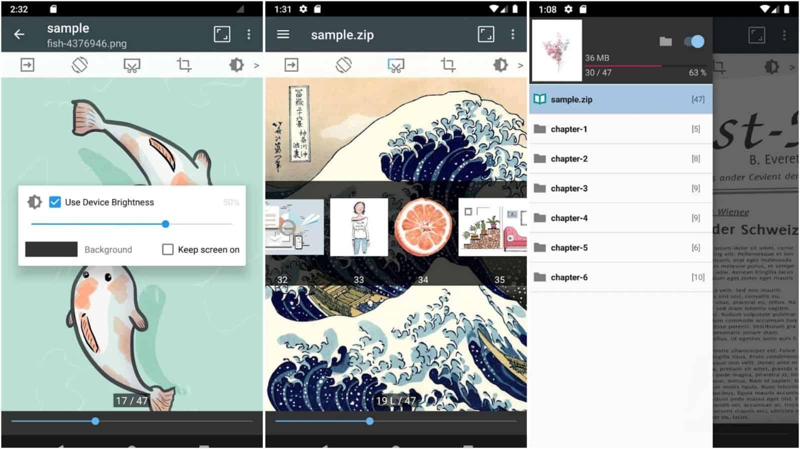 ComicScreen app grid image