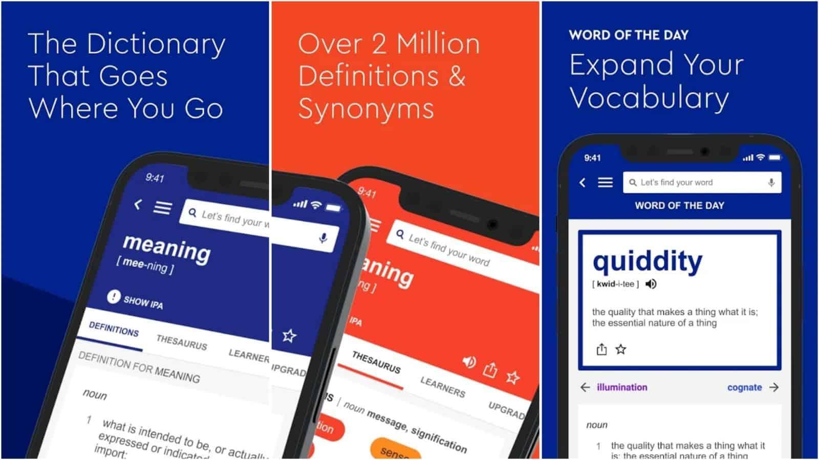 Dictionary com app grid image