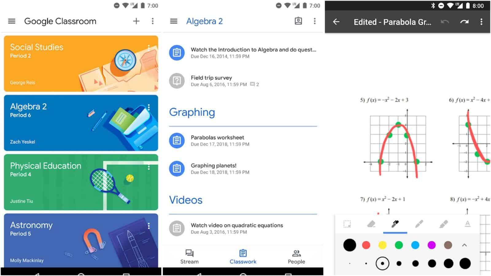 Google Classroom app grid image