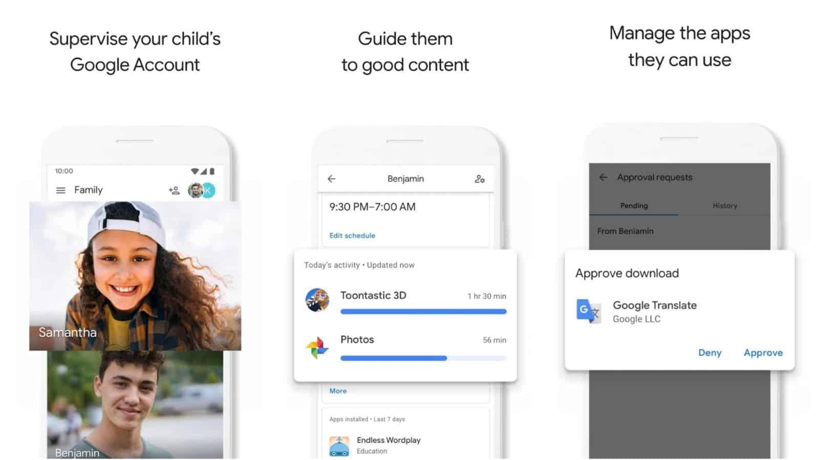 Google Family Link for parents app grid image