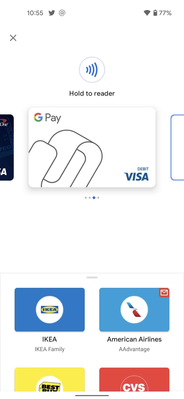 Tarjeta virtual nfc 2 de Google Pay