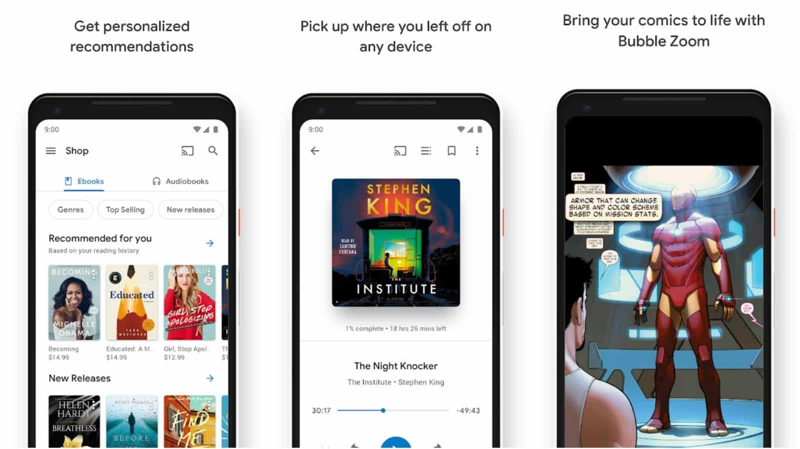 Google Play Books app grid image