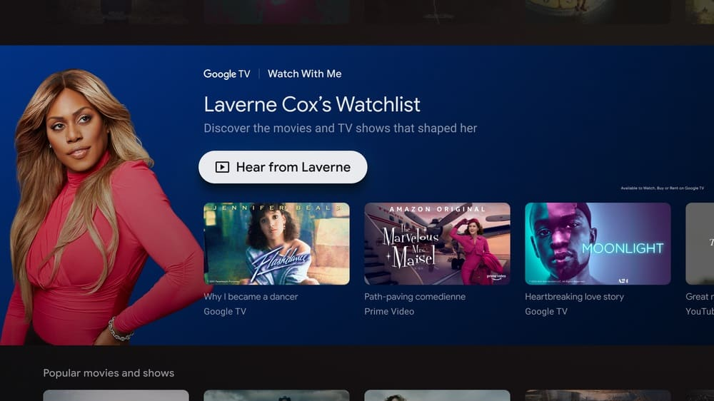 Google TV Adds A New Celebrity-Curated 'Watch With Me' Series