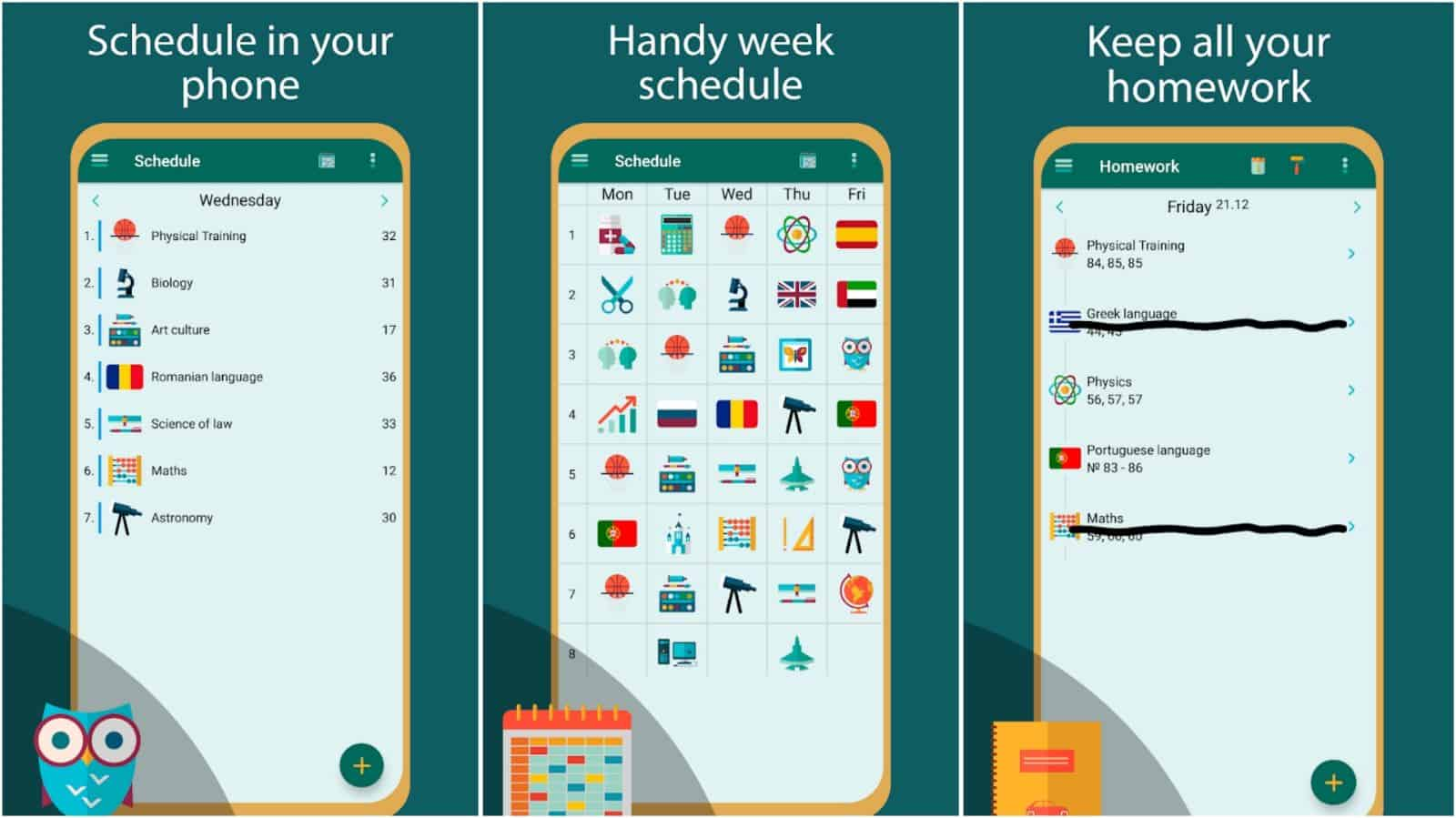 School app grid image