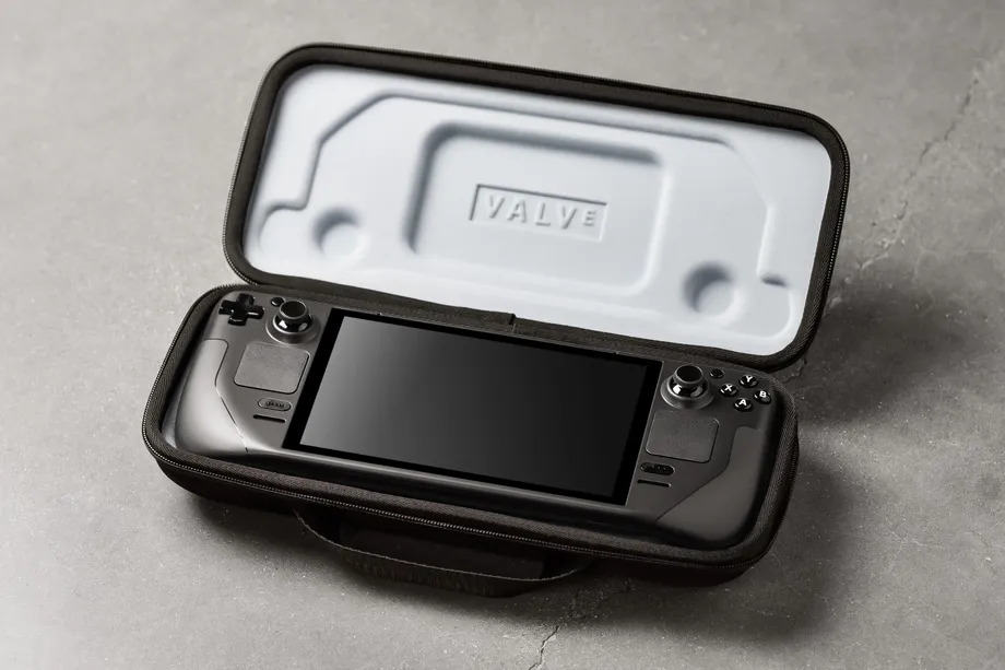 Steam Deck In a Protective Case