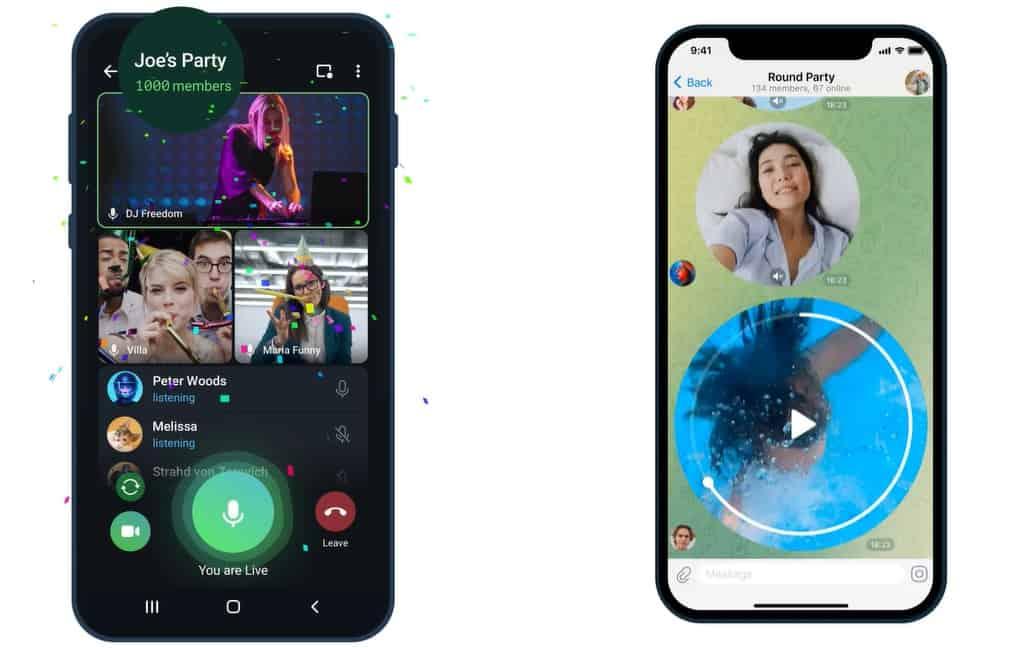 Telegram new features update