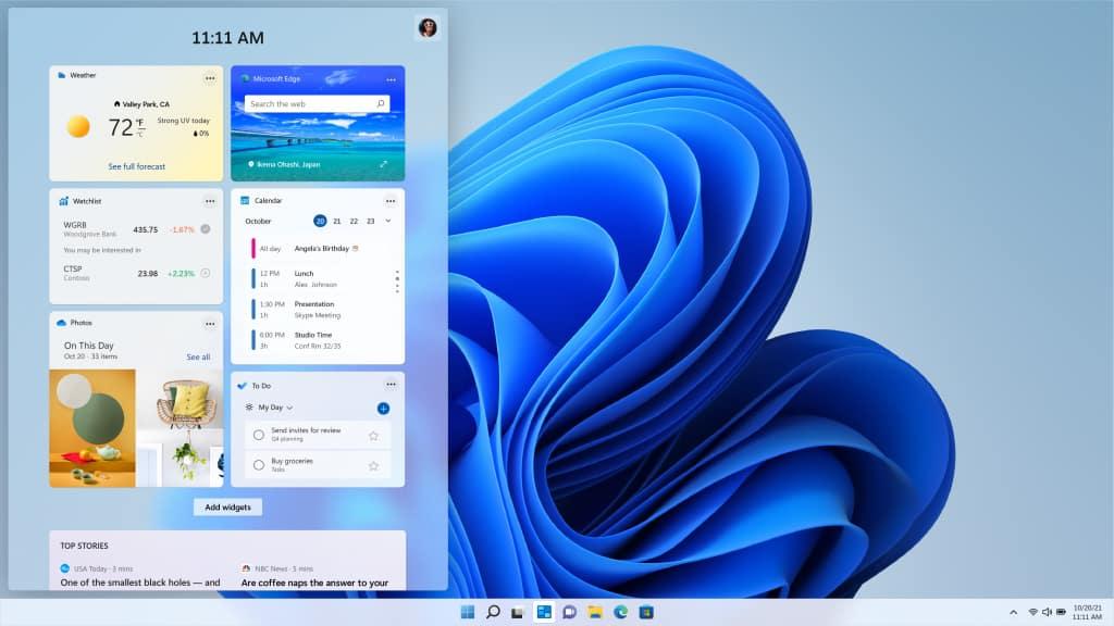 Windows 11 Widgets Feed