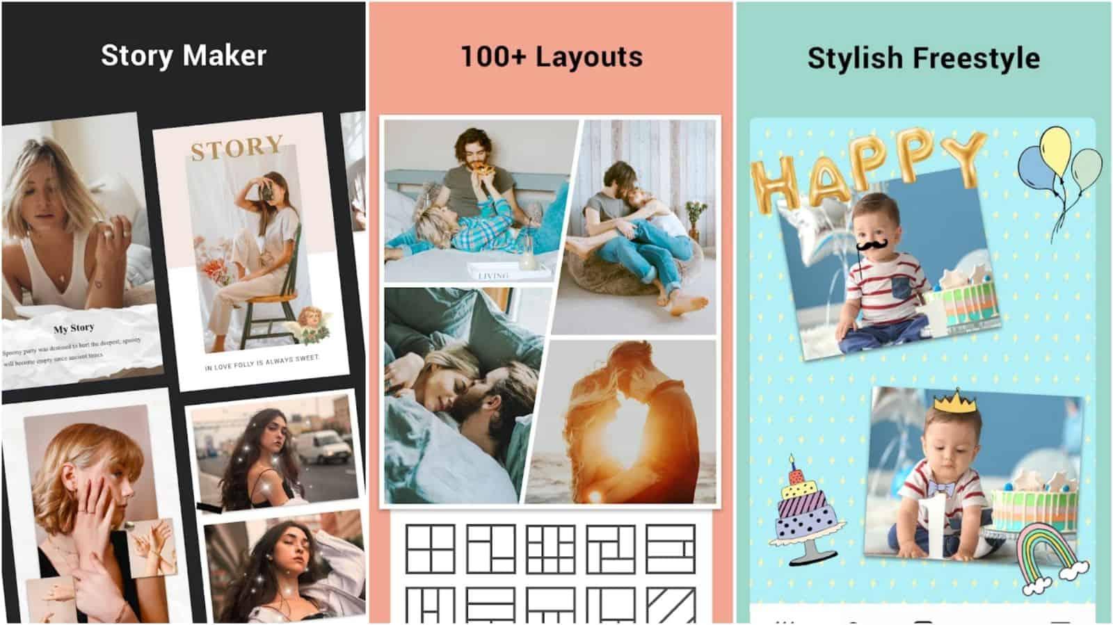 Collage Maker app grid image
