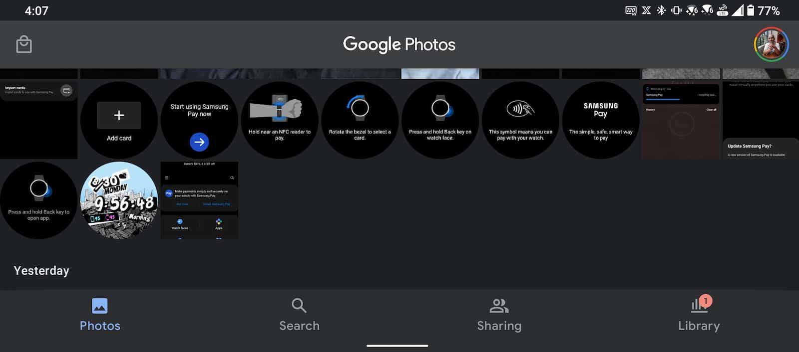 Galaxy Watch 4 Take Screenshot