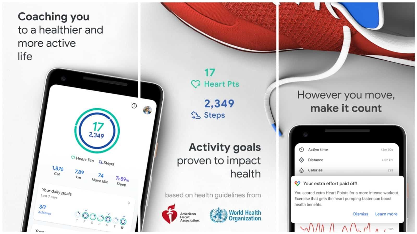 Google Fit app grid image