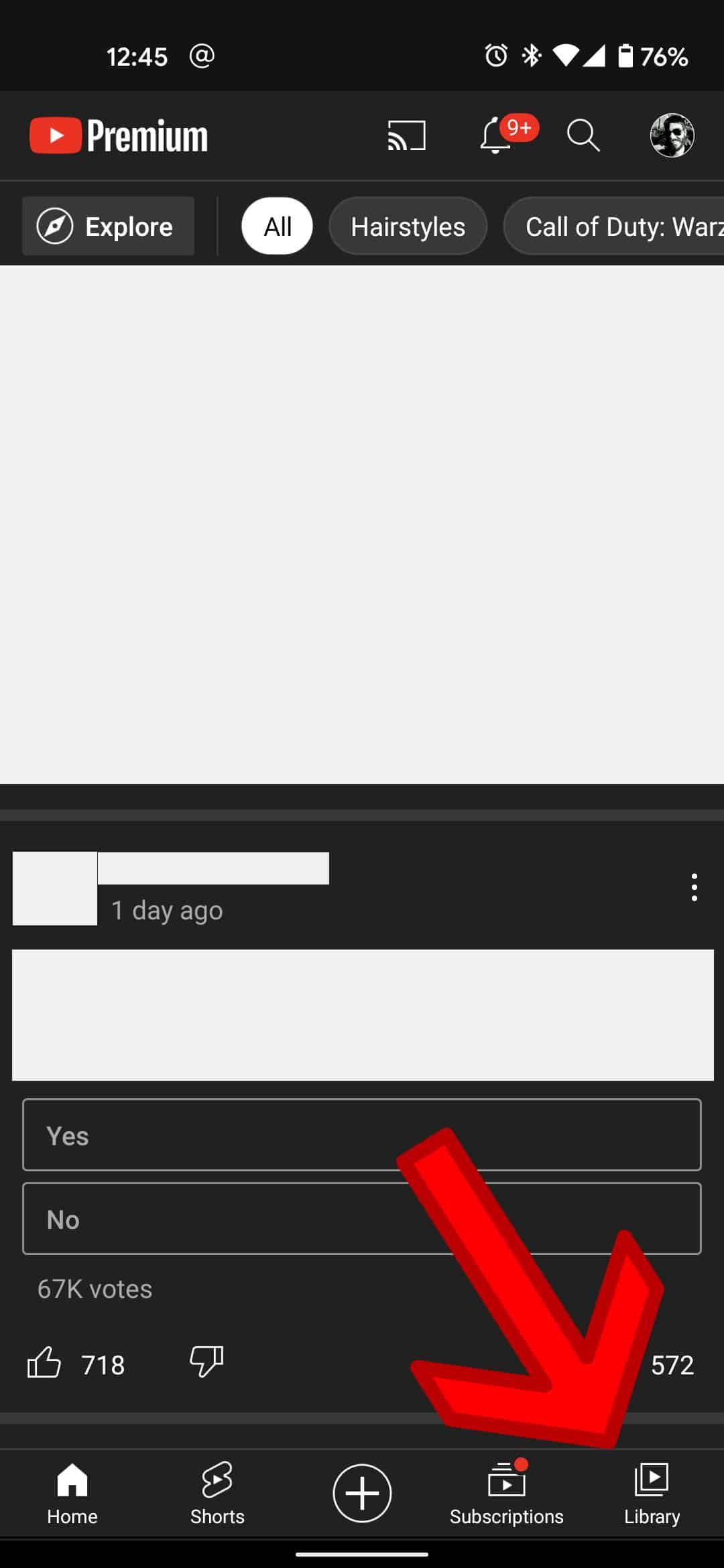 How to remove watched videos YouTube mobile 1a
