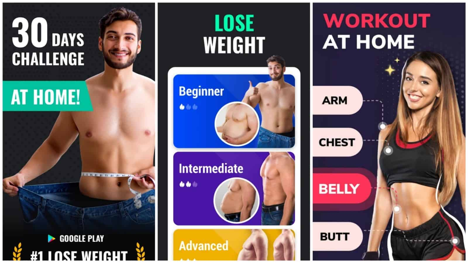 Lose Weight Leap Fitness app grid image