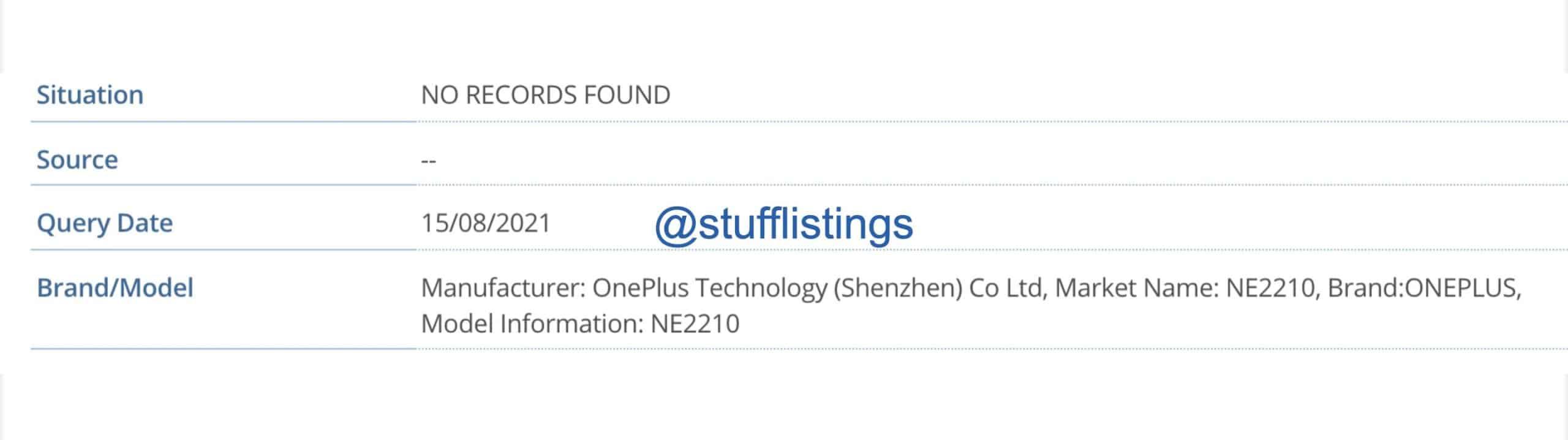OnePlus NE2210 IMEI