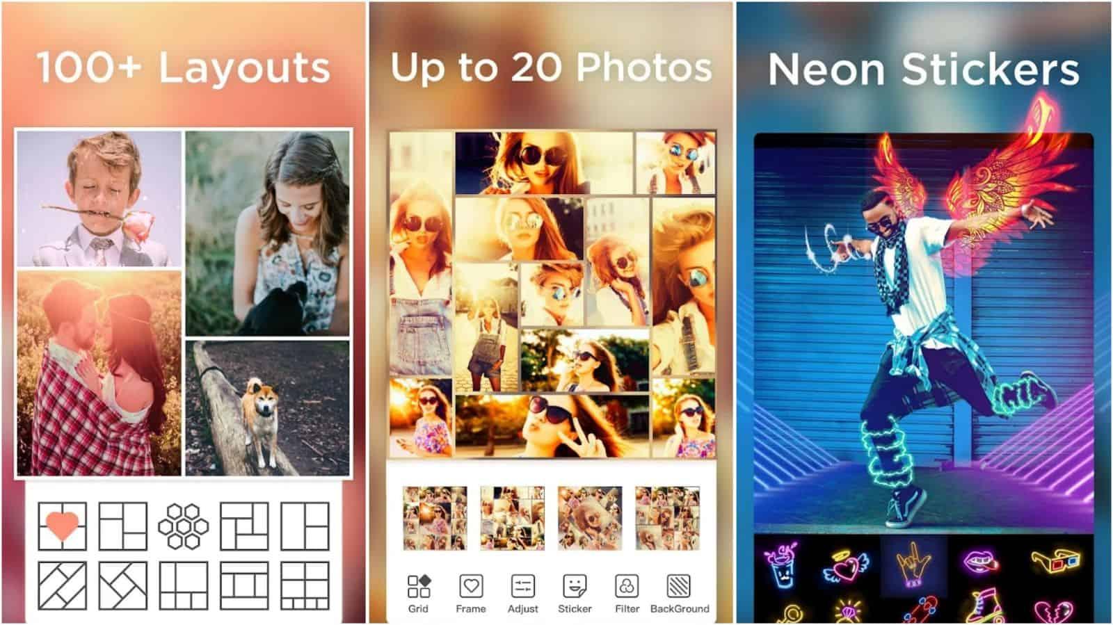 Pic Collage Maker app grid image