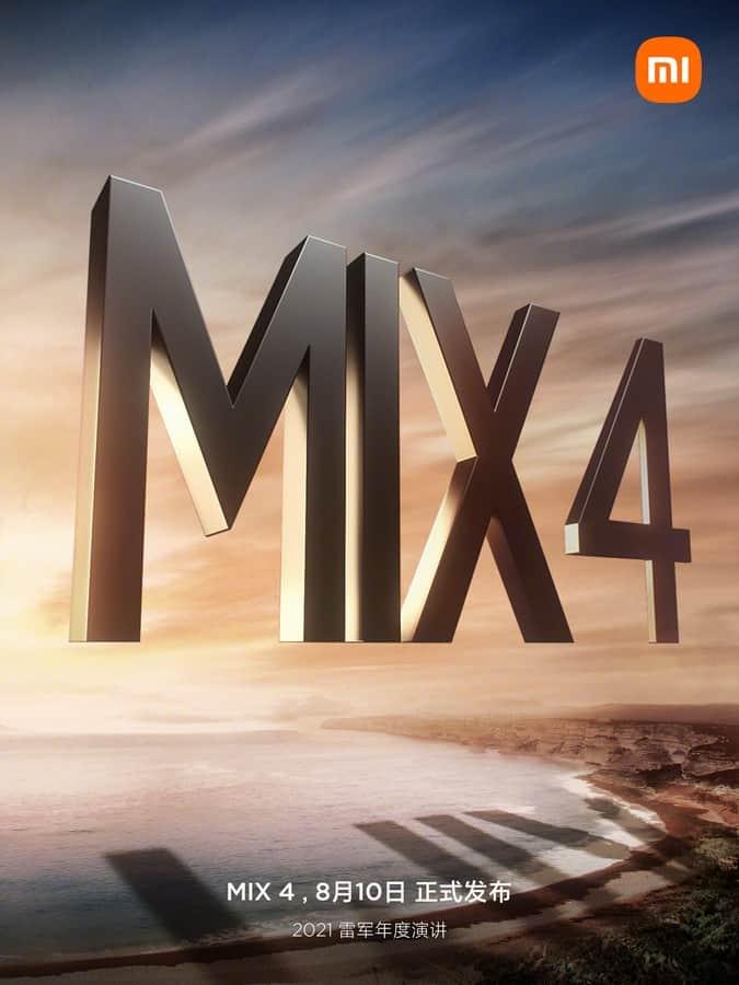 Xiaomi Mi MIX 4 event confirmation