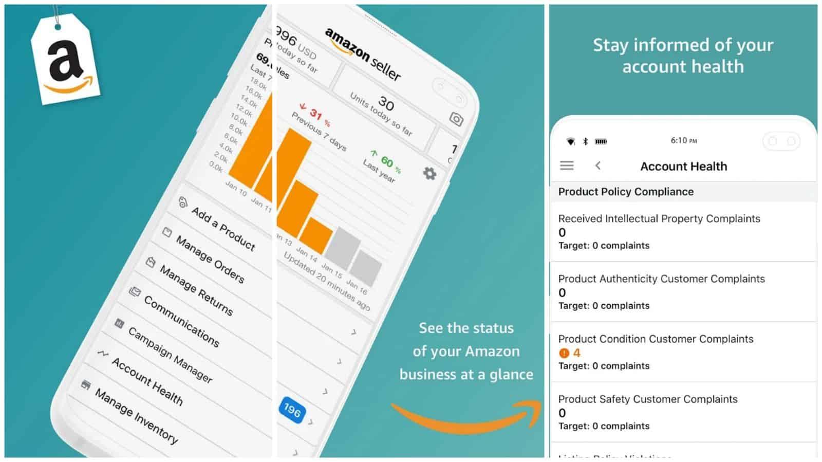 Amazon Seller app grid image