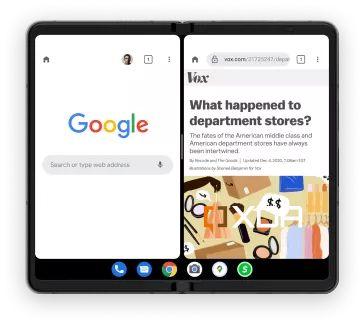 Android 12 1 taskbar foldable