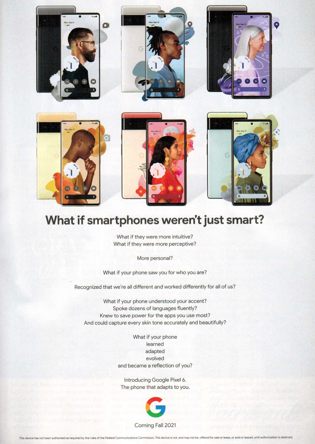 Google Pixel 6 and 6 Pro The New Yorker ad