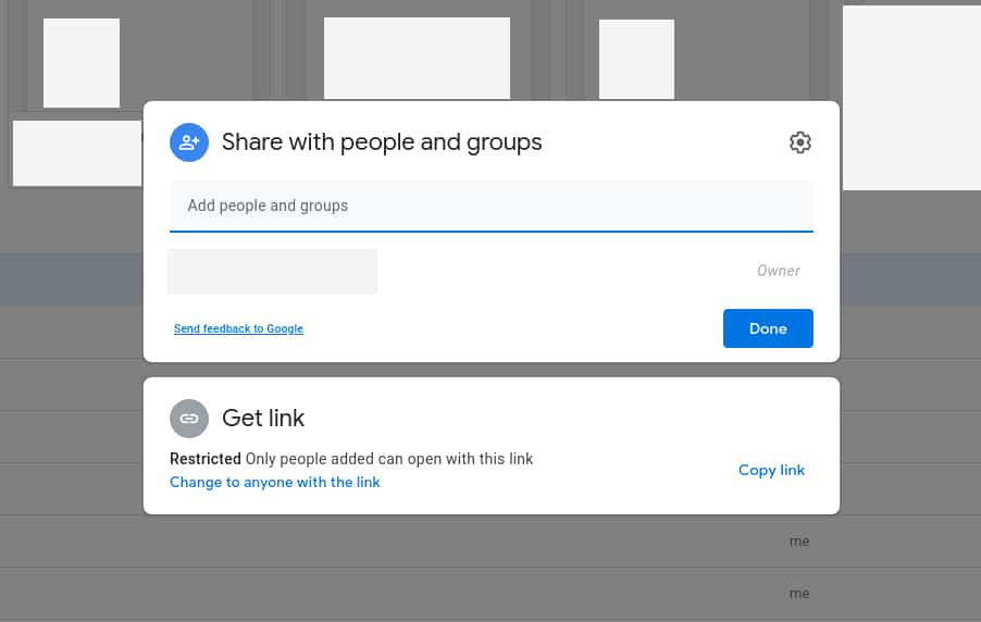 How to share a Google Drive folder from a browser 3