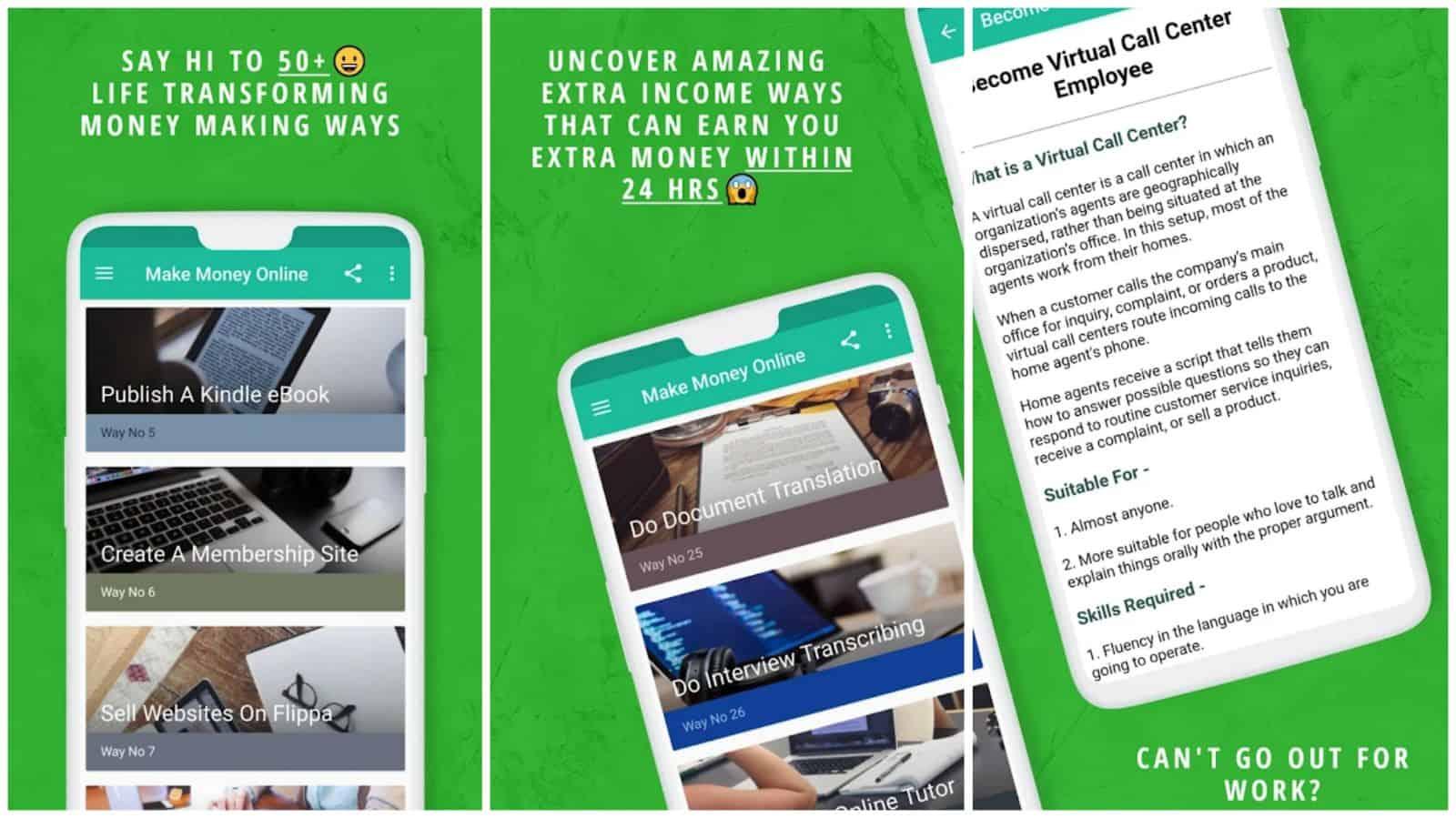 Make Money Passive Income app grid image
