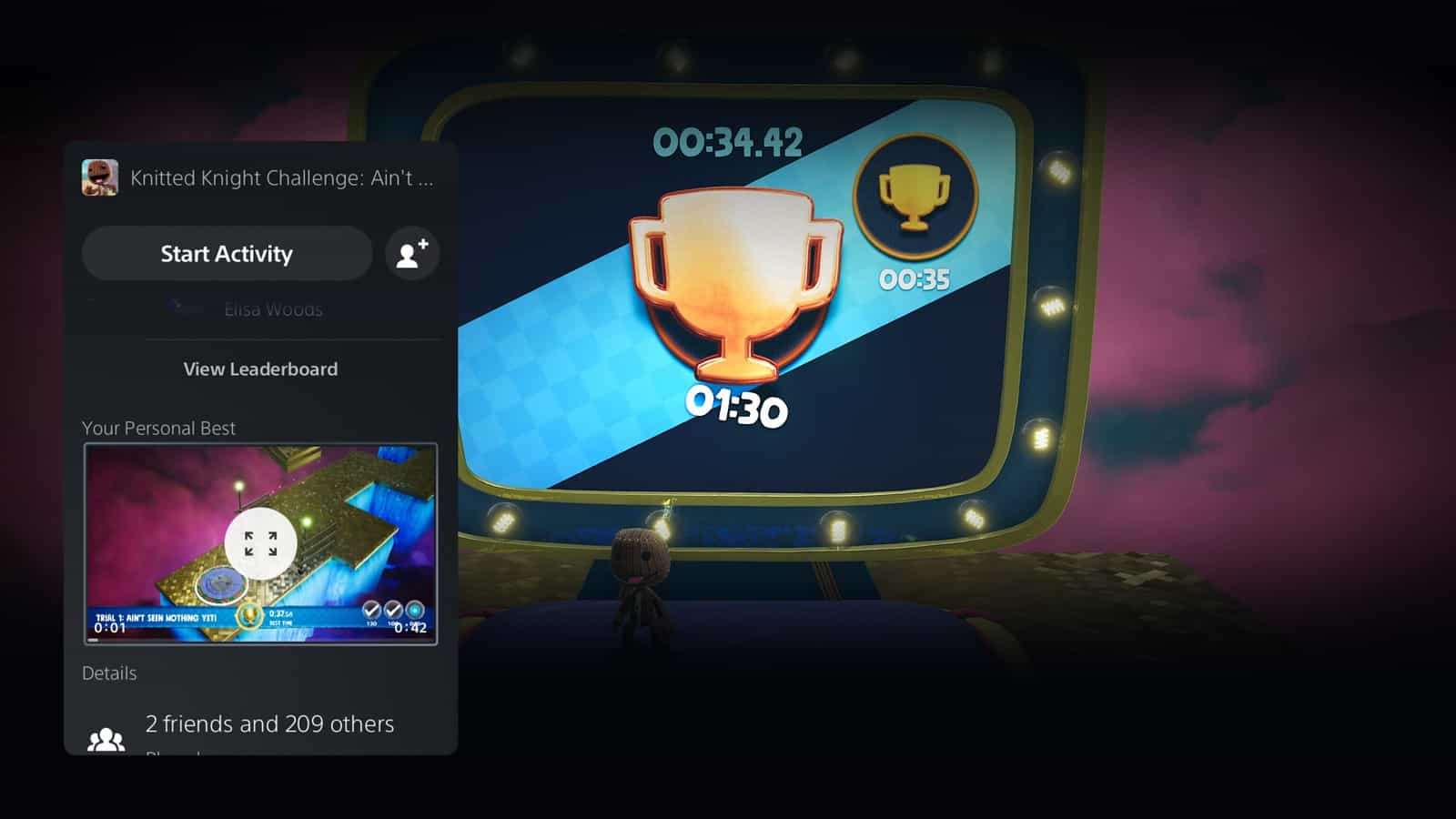 PS5, atualização de setembro, Personal Best