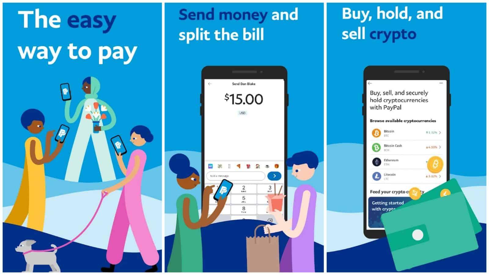PayPal app grid image