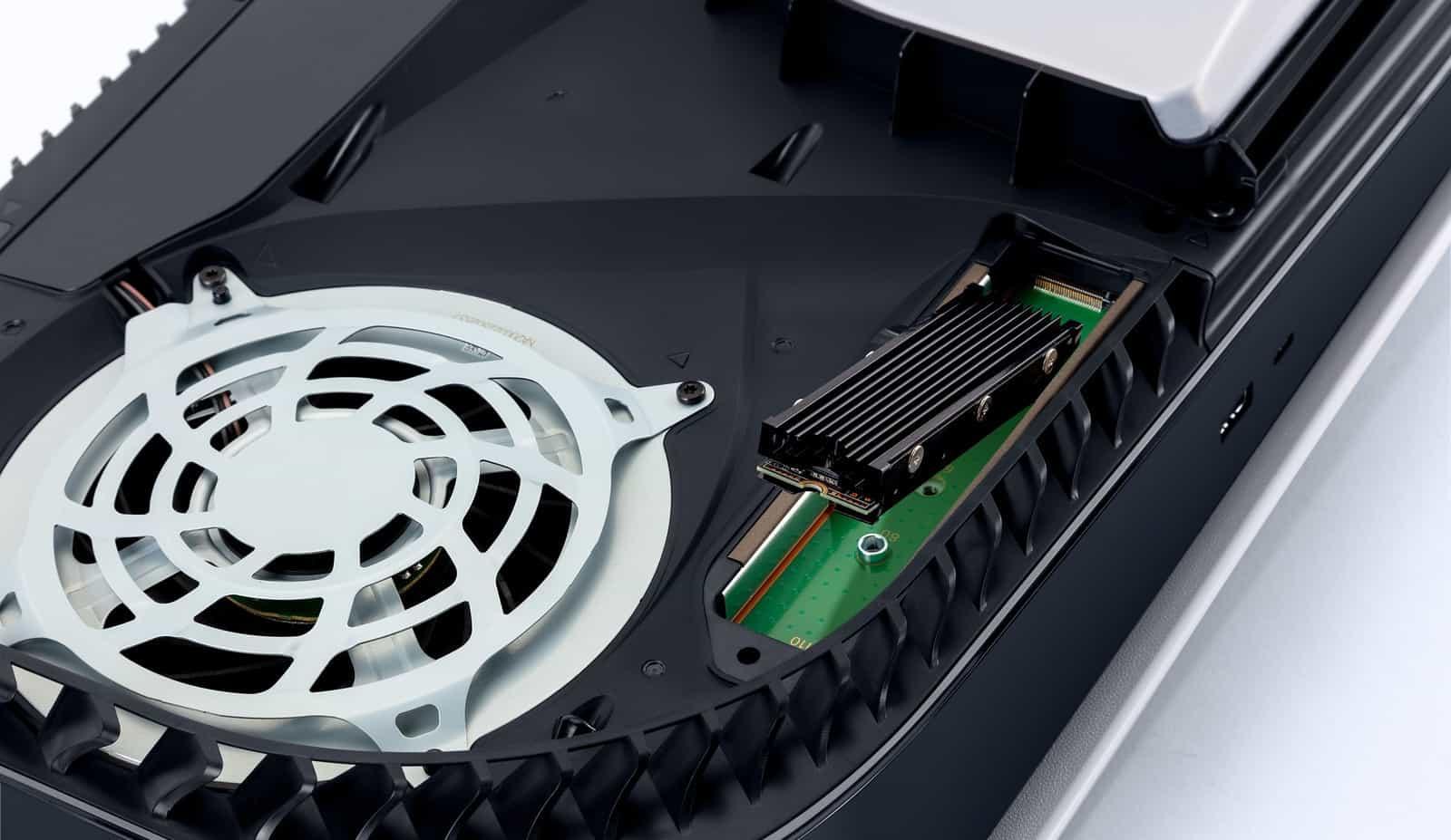 Sony PS5, atualização de setembro M 2 Storage